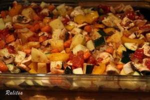 Healthy Baked Vegetables