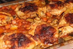 Baked chicken with mixed vegetables